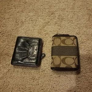 2 small coach wallets